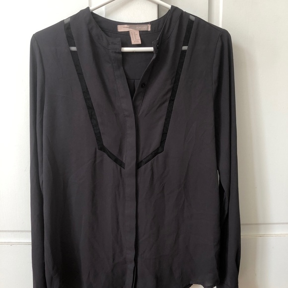 Forever 21 Tops - Barely worn- Silky Blouse with Mesh detailing